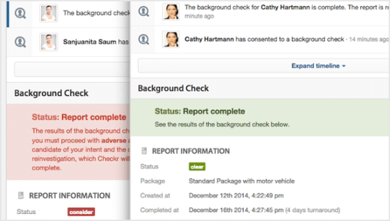 Run a background check report in Workable